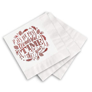 Other - Most Wonderful Time of the Year Christmas Napkins
